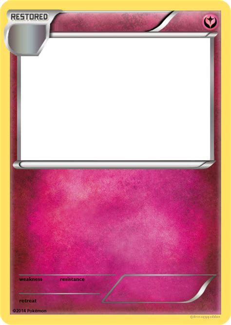 legendary card template png tcg restored card blank by p0kelegends on