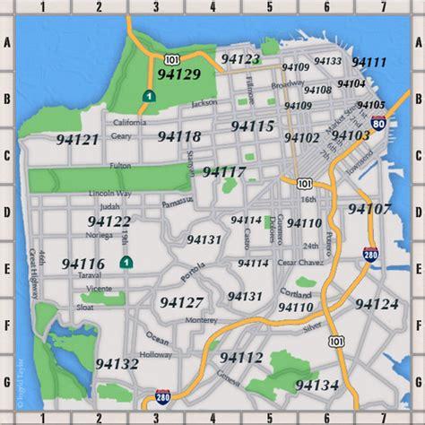 san francisco neighborhoods map with streets sf zip codes lightner property development