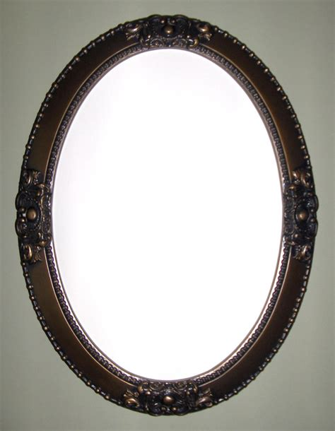 oval bathroom wall mirrors oval mirror with bronze color frame wall mirror bathroom