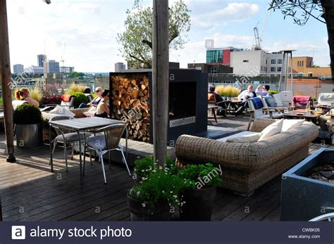 roof top bars shoreditch boundary rooftop bar shoreditch london stock photo
