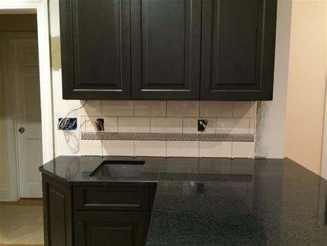 backsplash edge of cabinet or countertop kitchen tile
