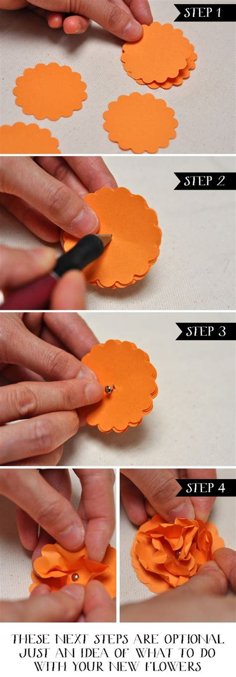 Easy Steps To Make A Paper Flower - 25 best ideas about easy paper flowers on