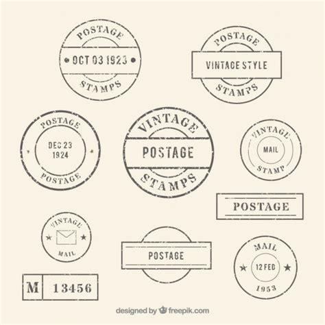 imagenes vintage de sellos colecci 243 n de sellos vintage redondos descargar vectores