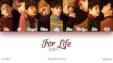 exo for life english lyrics han rom eng exo for life color coded lyrics youtube