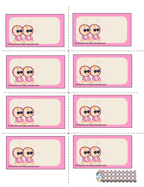 printable label templates for baby shower free printable twin baby shower labels