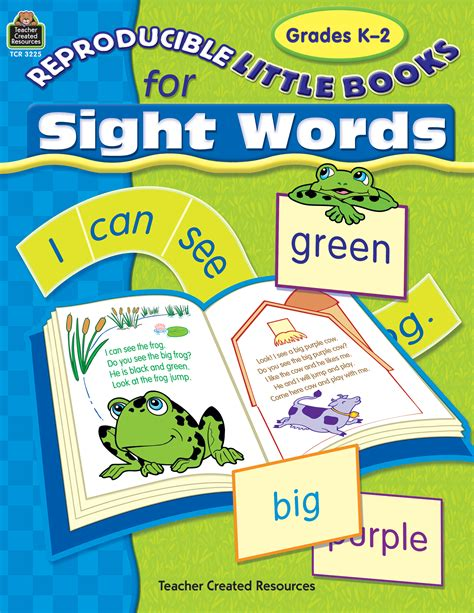 sights books reproducible books for sight words tcr3225