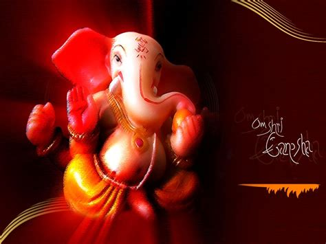 wallpapers paintings idols lord ganesha