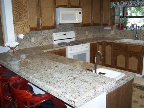 Installing Granite Tile Countertop Tiled Kitchen Countertops