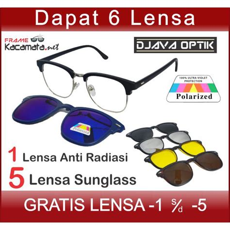 Kacamata Clip On Shopee kacamata clip on 2218a lensa minus polarized hitam magnet