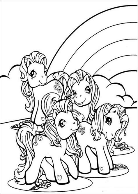 Hello Pony Coloring Pages | ponies and rainbow coloring pages hellokids com