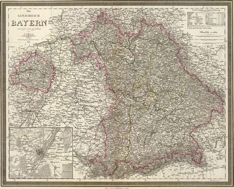 Bayern Germany Birth Records Germany Bavaria 1856 Weiland Historic Map Reprint