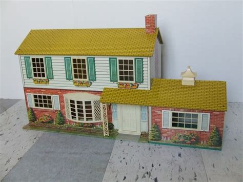 metal doll house vintage doll house metal bungalow 1950s 1960s miniature house