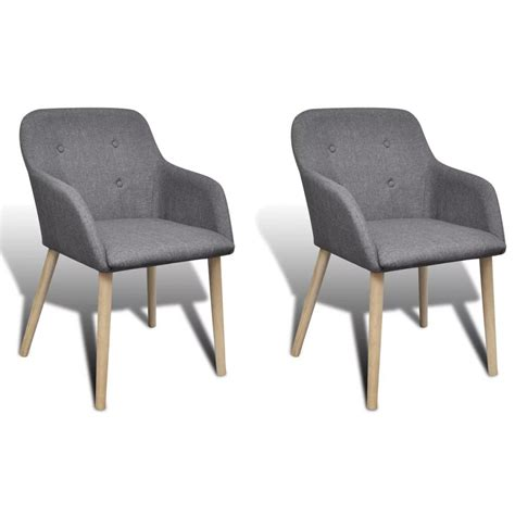 dining chairs legs vidaxl co uk 2 pcs fabric dining chair set with oak legs