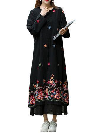 Id Split Ethnic Dress robe maxi 224 broderie florale ethnique pour femme chez
