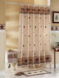 country shower curtains and accessories country stars hearts bathroom shower curtain primitive