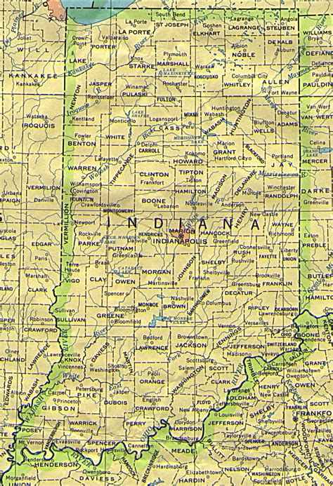 Indiana State Map by Indiana Maps Perry Casta 241 Eda Map Collection Ut Library