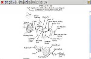 Honda Civic Brake System Diagram 1996 Honda Civic Rear Brake Shoes Brakes Problem 1996
