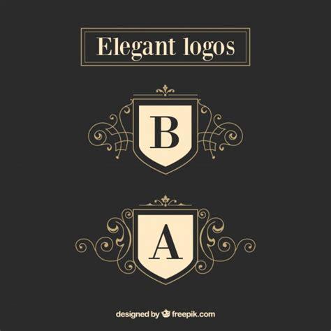 elegant logo design photoshop plantillas de elegantes logos descargar vectores premium