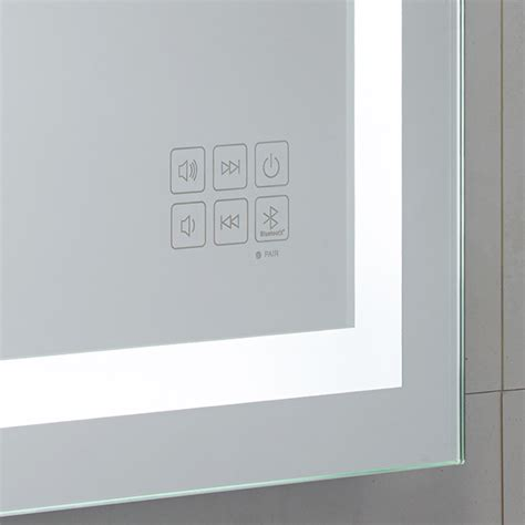 bathroom mirror bluetooth roper rhodes encore bluetooth bathroom mirror mle430 mle430
