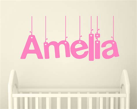 sticker names for walls wall sticker personalised wall stickers wall decor names childrens