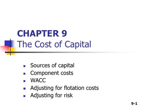 Ross Executive Mba Cost by Cost Of Capital