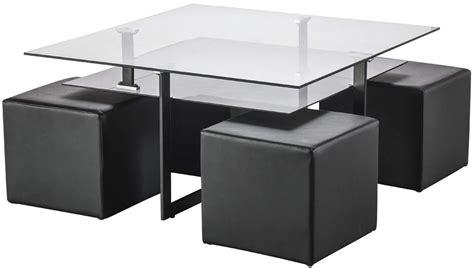 table basse ouvrable table basse avec des poufs integres ezooq