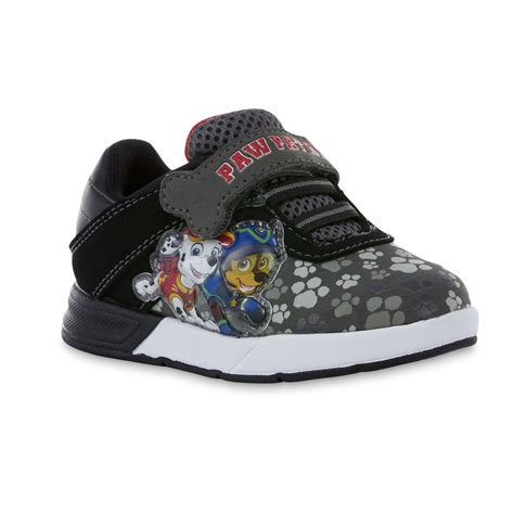 gray light up shoes nickelodeon toddler boys paw patrol black gray light up