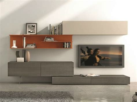 Presotto Industrie Mobili by Sectional Wall Mounted Tv Wall System I Modulart 278 By