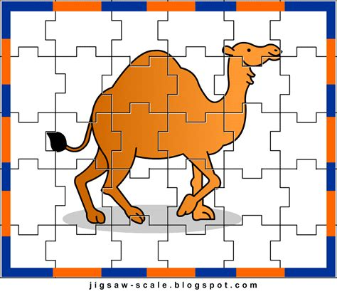 easy printable jigsaw puzzles printable jigsaw puzzle for kids camel jigsaw