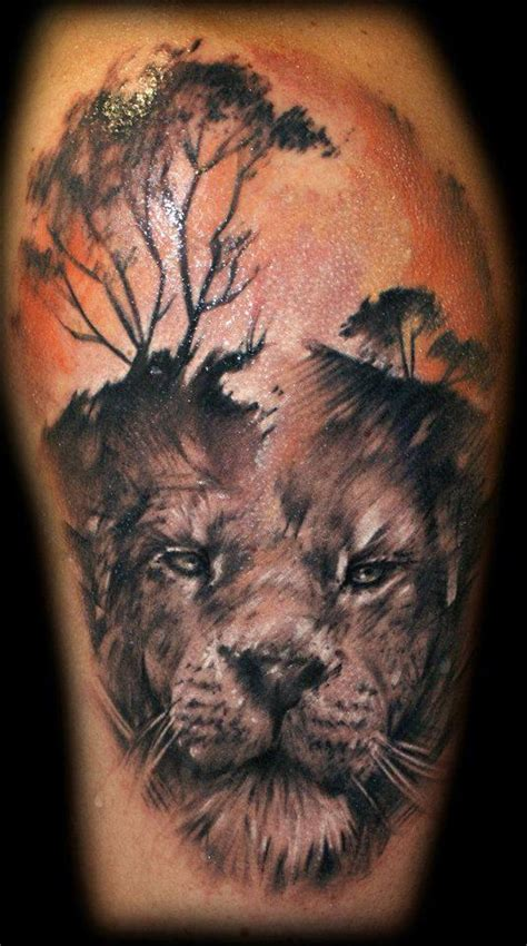 awesome lion tattoos tribal lion king tattoo designs