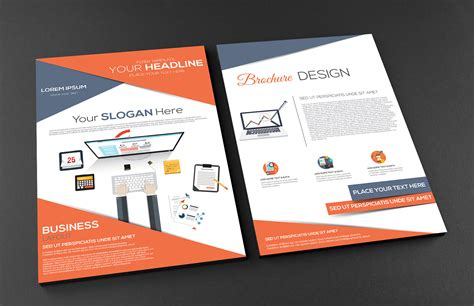Best Resume Help by Free Front And Back A4 Brochure Graphic Google Tasty