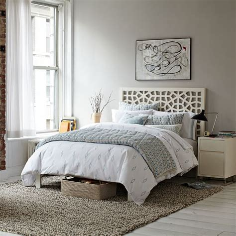 moroccan bed frame morocco bed white west elm