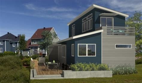 Small A Frame House Plans blu homes unveils two story evolution prefab home blu