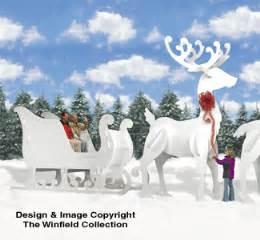 Reindeer amp sleighs ginormas sleigh and reindeer pattern set
