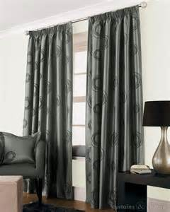 Black And Grey Window Valance Silver Grey Black Faux Silk Lined Cheap Curtain Cheap