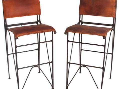 Distressed Leather Bar Stools by Mexican Bar Stools Leather Home Design Ideas