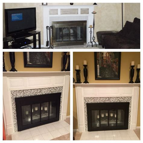 Stick On Fireplace Tiles by 17 Best Images About Living Room On Fireplaces
