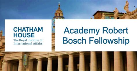 Chatham House by Academy Robert Bosch Fellowship At Chatham House Uk