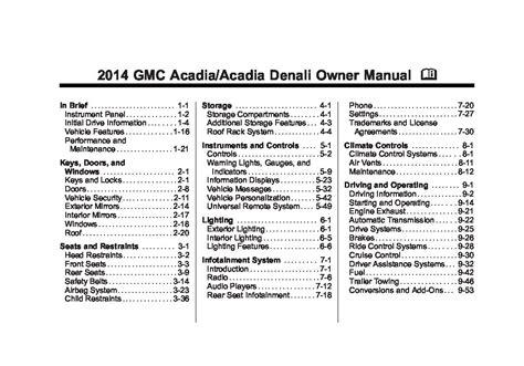 gmc acadia owners manual  give   damn manual
