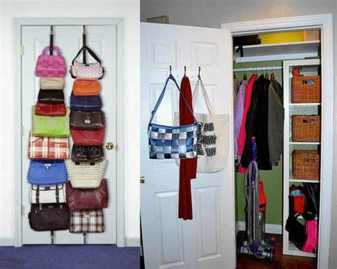 Shelf Hooks Entryway 40 Handbag Storage Solutions And Home Organizers For Small
