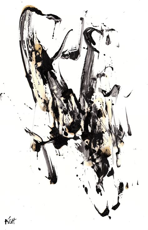 Wallpaper Sticker Motif And Black Line Ukuran 45 Cm X 10 Meter 1 black and white modern expressionism contemporary