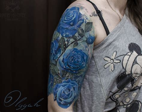 blue rose tattoo shop blue roses by olggah on deviantart