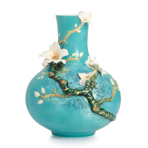 Franz Vase Collection by Franz Porcelain Collection Gogh Almond Flowers Vase