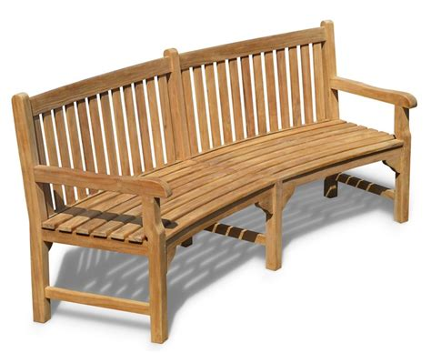 curved park bench connaught teak curved garden bench teak park bench 2 2m