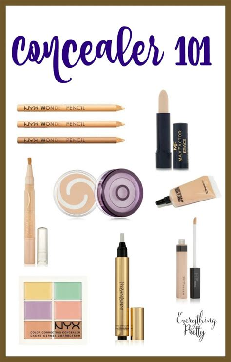 different color concealers types of concealer everything pretty