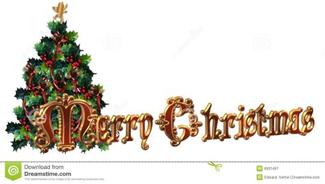 merry christmas label design 3d text stock illustration