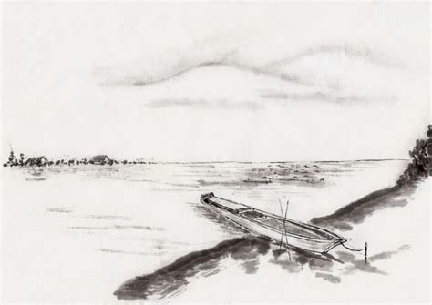 Lukisan Perahu galery lukisan lukisan perahu bersandar