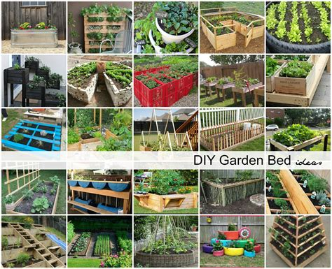 Garden Diy Ideas Diy Garden Bed Ideas The Idea Room