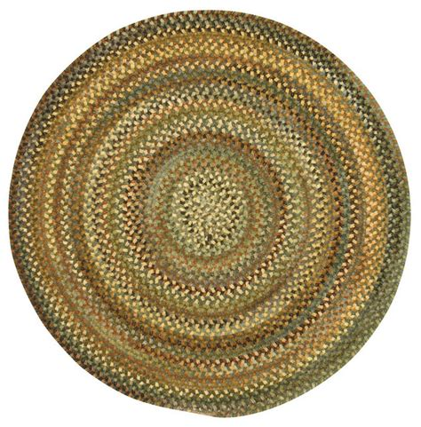 Eaton Braided Round Rug Green 3 Traditional Area Small Braided Rugs