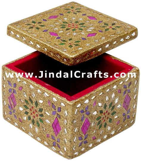 Home Decoration Item handmade lac decorative jewelry box indian rich crafts